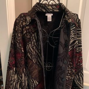 Reversible button jacket - great for holidays! Med